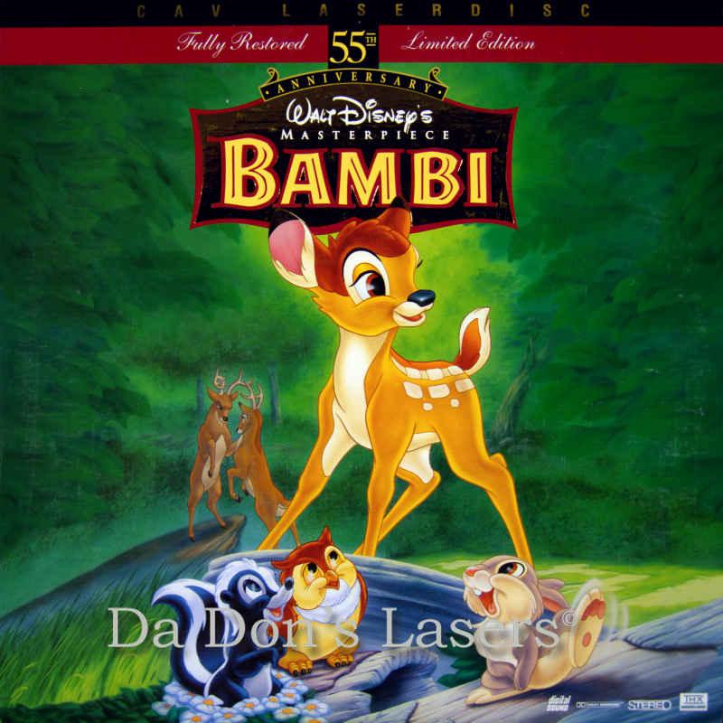 Bambi LaserDisc, Rare LaserDiscs, Disney Pictures