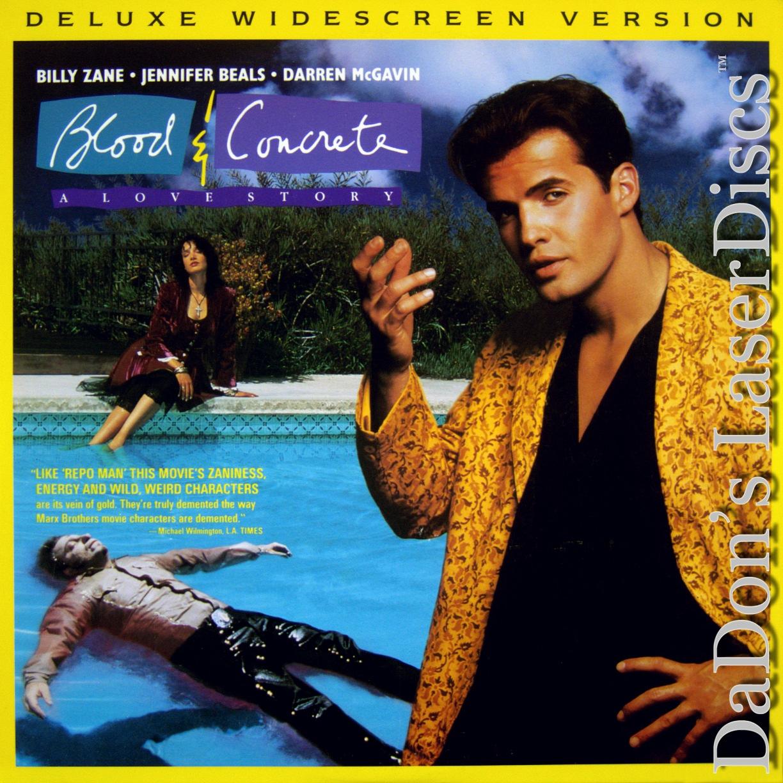 Blood Concrete A Love Story Laserdisc Rare Laserdiscs Not On Dvd