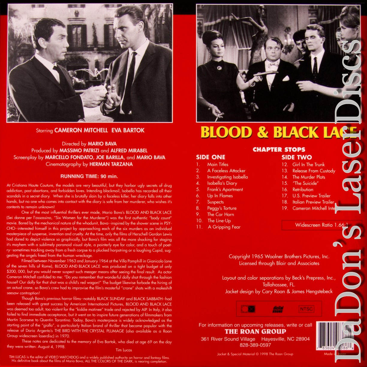 Blood and Black Lace WS NEW Roan LD Mitchell Horror