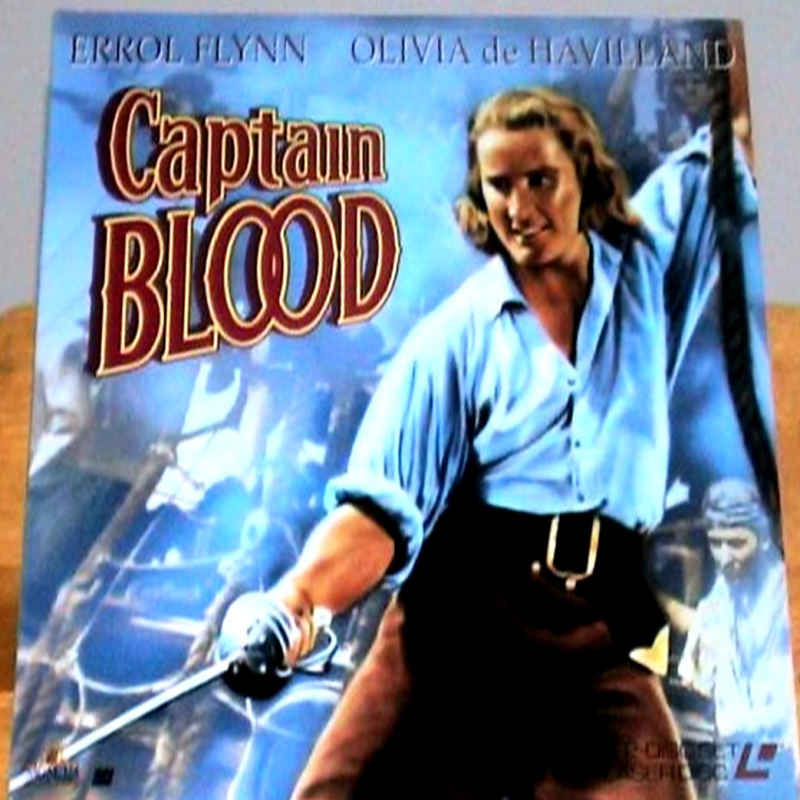 Captain Blood Laserdisc Rare Laserdiscs Black White B W