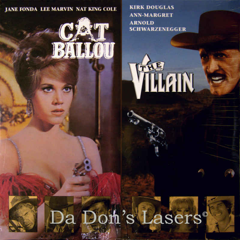 cat ballou the villain laserdisc rare laserdiscs double features. Black Bedroom Furniture Sets. Home Design Ideas