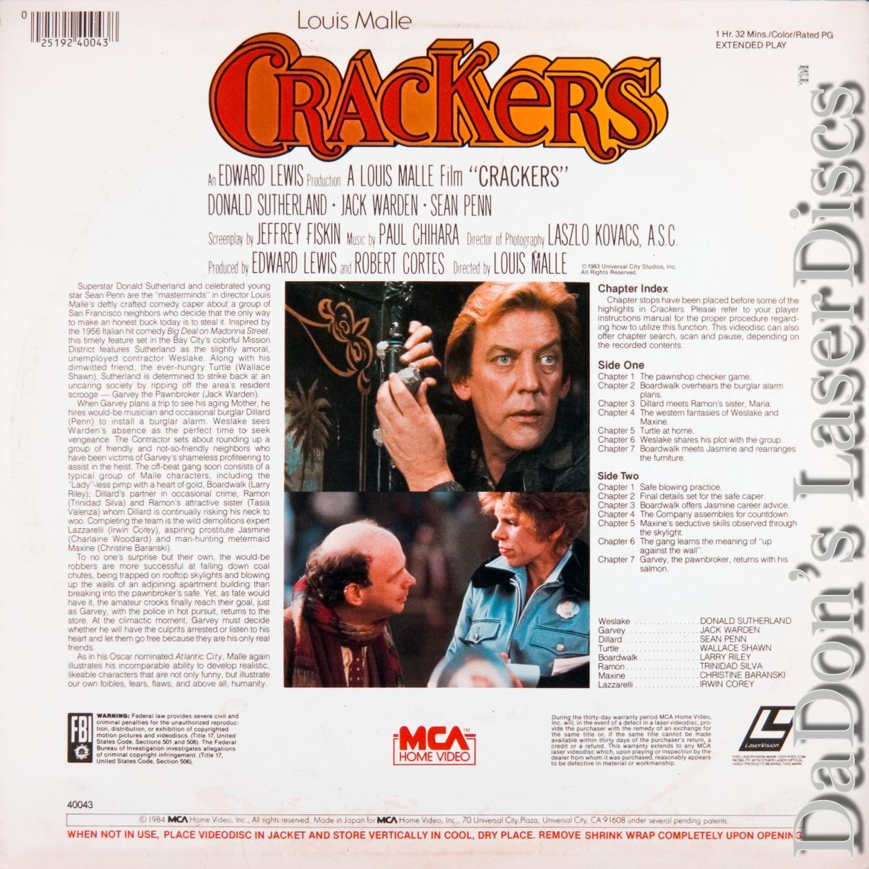 Crackers LaserDisc, Rare LaserDiscs, Not-on-DVD