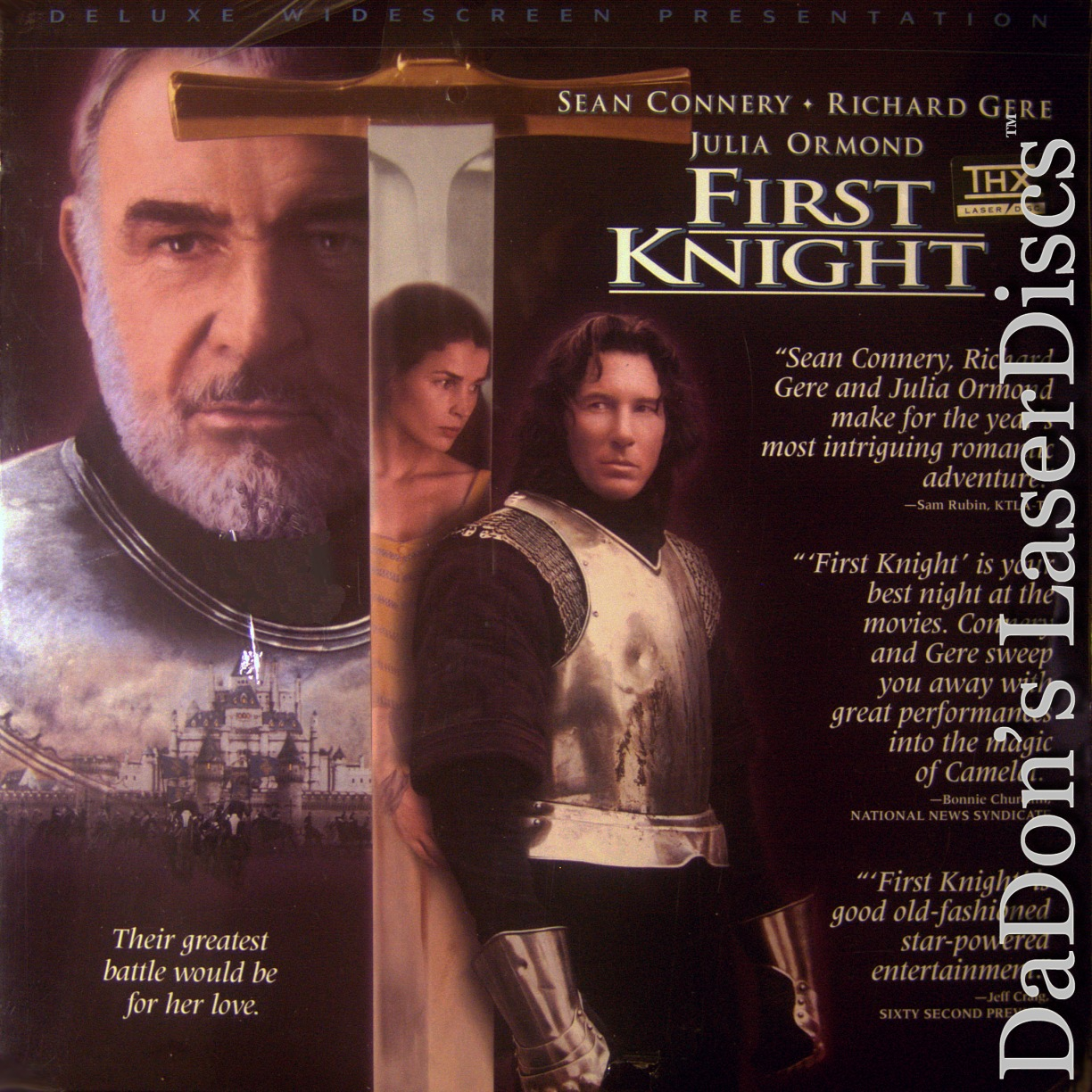 First Knight Laserdisc Rare Laserdiscs Widescreen Editions