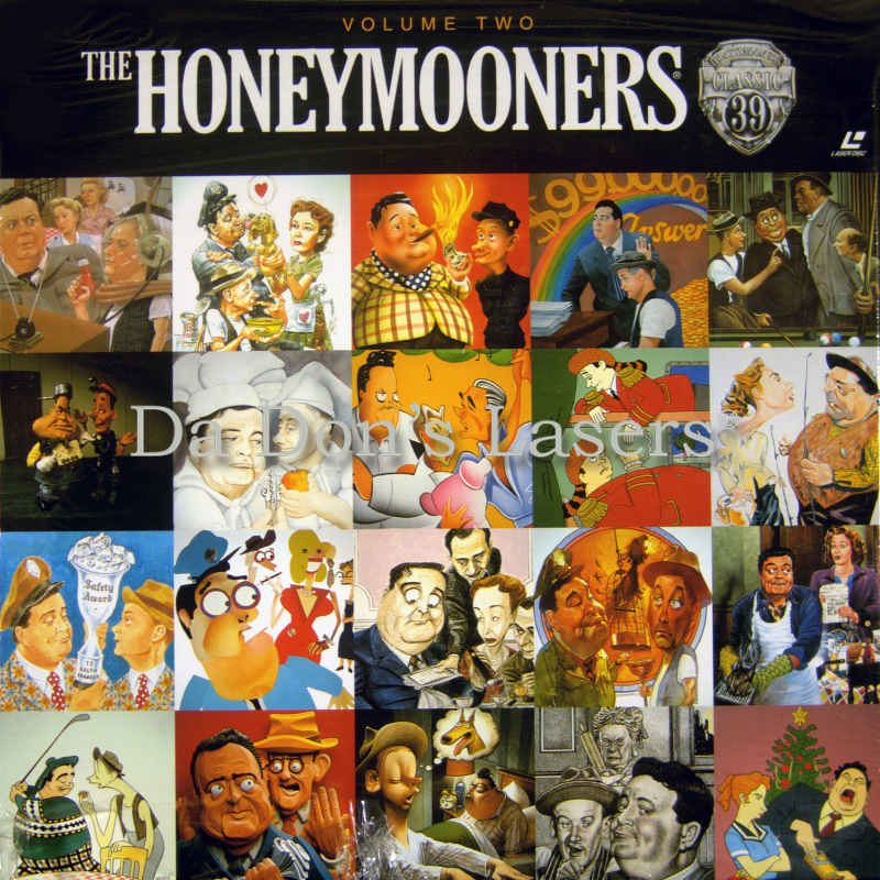 The Honeymooners Vol 2 Rare TV LaserDisc Box Set Comedy TV Show