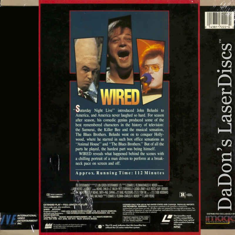 Wired LaserDisc, Rare LaserDiscs, Not-on-DVD