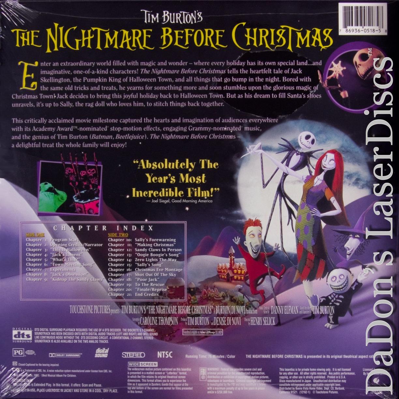 The Nightmare Before Christmas LaserDisc, Rare LaserDiscs, DTS ...