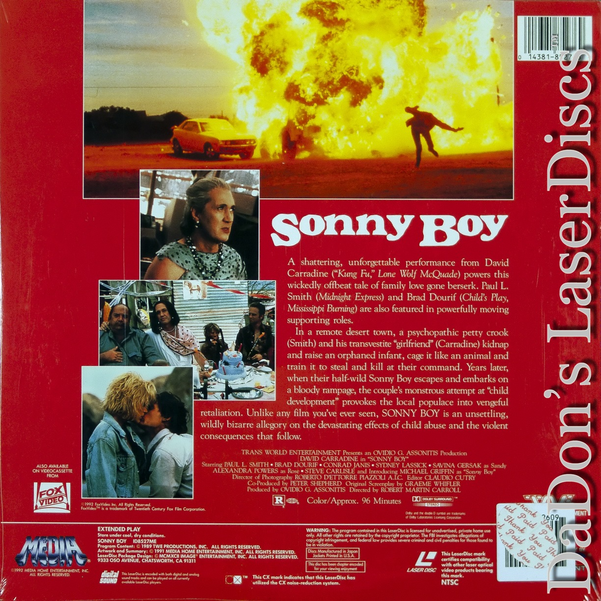 sonny boy laserdisc rare laserdiscs thriller. Black Bedroom Furniture Sets. Home Design Ideas