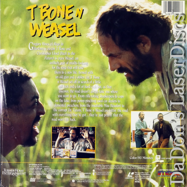T Bone N Weasel LaserDisc NEW Hines Lloyd Comedy