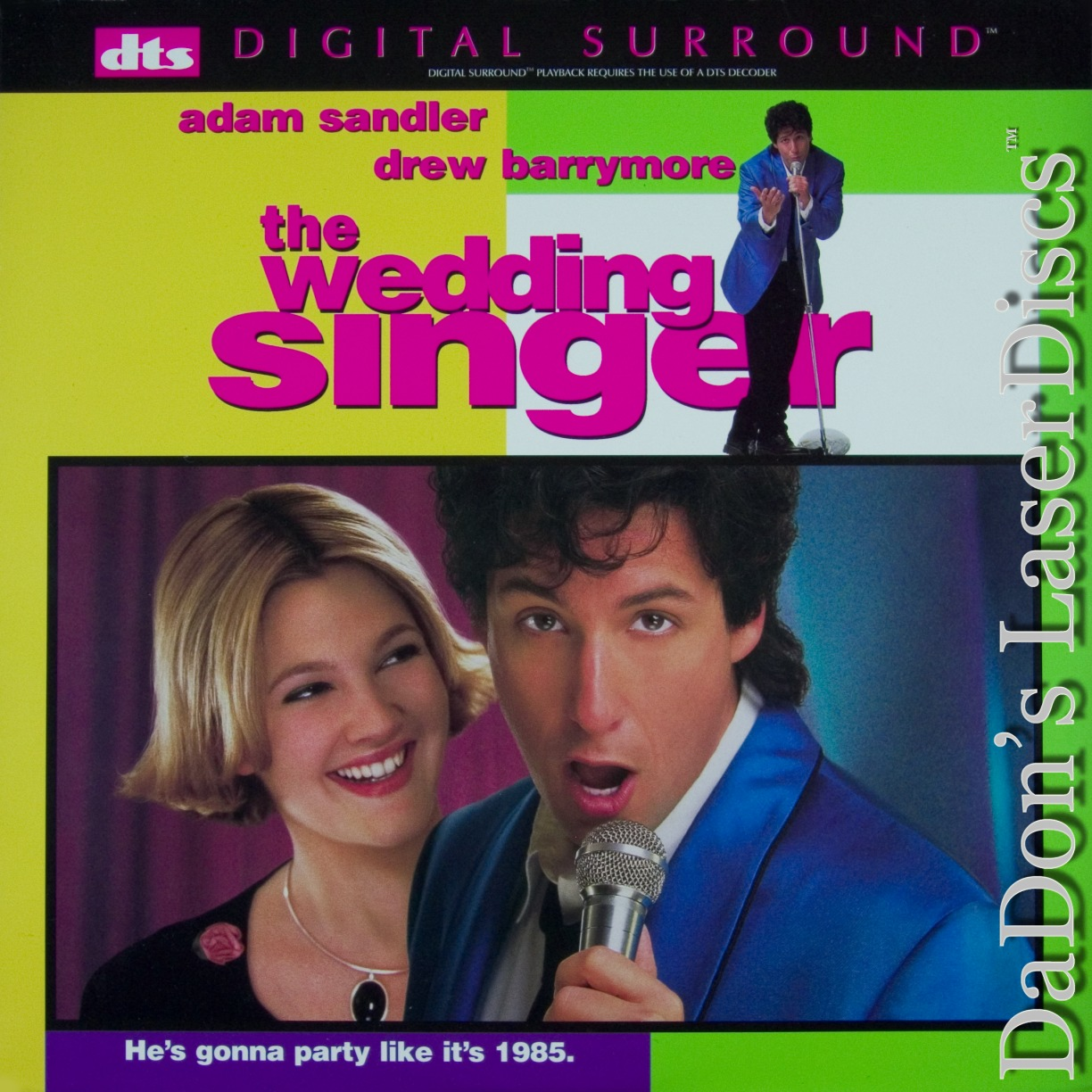 The Wedding Singer DTS WS LaserDisc Sandler Barrymore