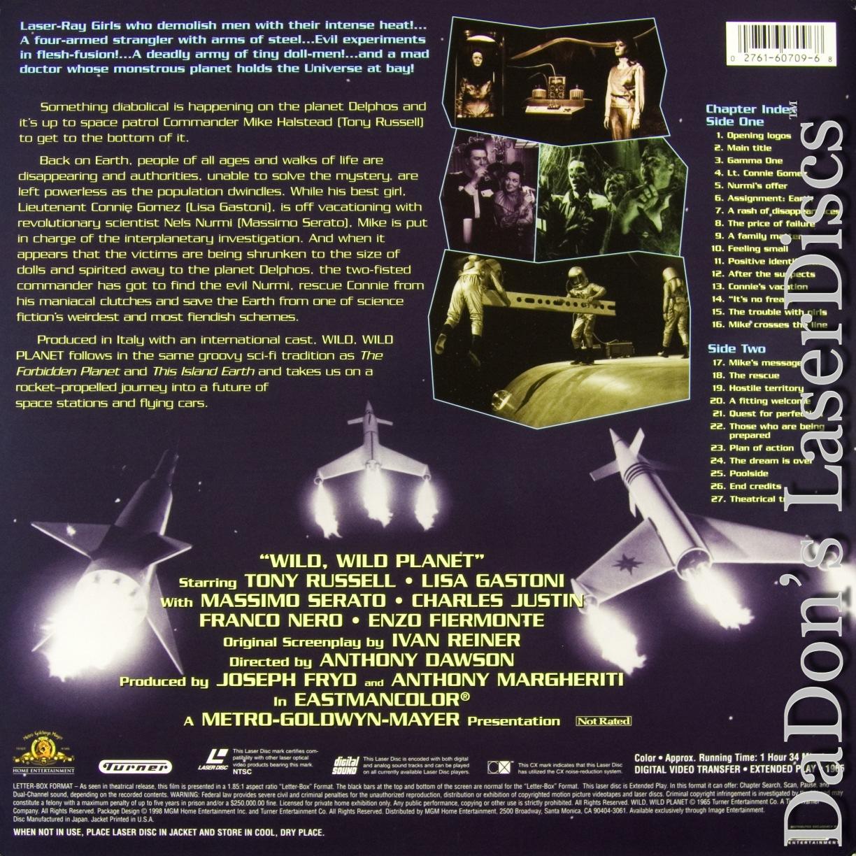 Wild, Wild Planet Widescreen LaserDisc Mega-Rare NEW LD Cult Sci-Fi Not