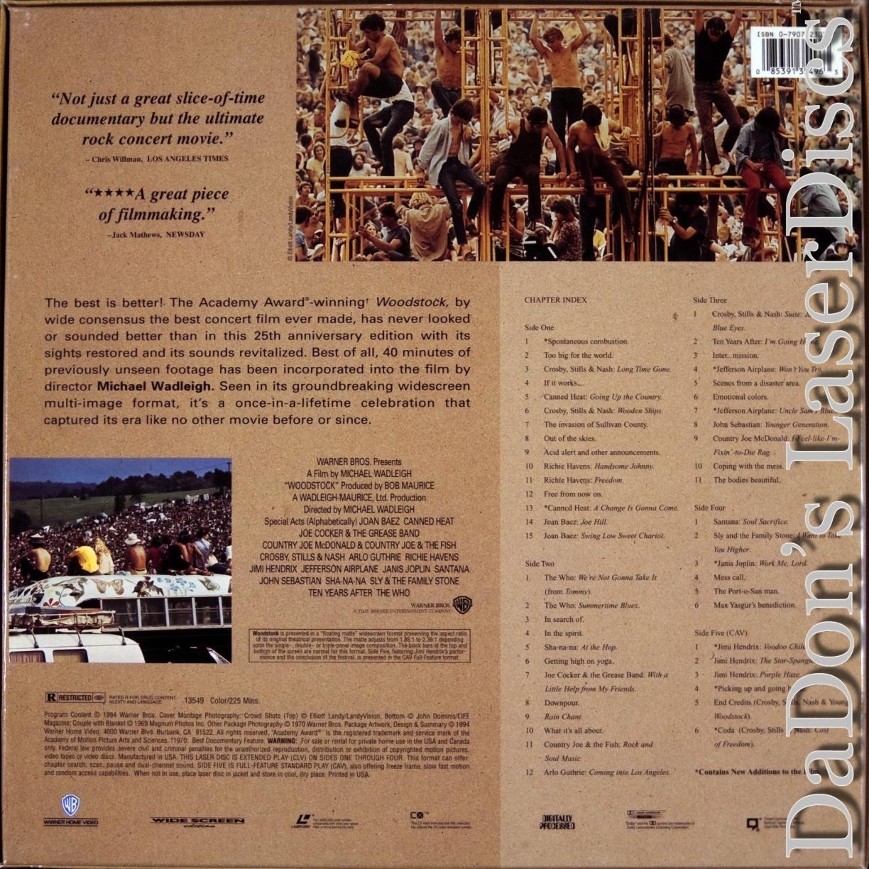 Woodstock Three Days Of Peace Amp Laserdisc Rare Laserdiscs