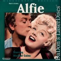 Alfie 1966 WS Rare Unrated NEW LaserDisc Caine Winters Comedy