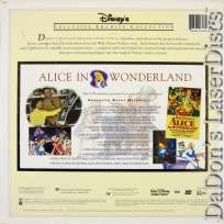 Alice in Wonderland Rare LaserDisc Box Disney Archive Animation