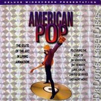 American Pop WS DSS LaserDisc Ralph Bakshi Music Animation