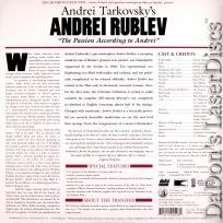 Andrei Rublev Widescreen Rare LaserDisc Criterion #222 Drama
