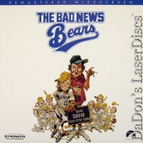 The Bad News Bears RM WS NEW LaserDisc Matthau O\'Neal Comedy