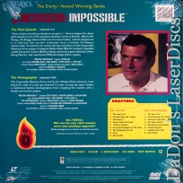 Best of Mission Impossible V1 Pilot / Photographer LaserDisc Spy TV Show