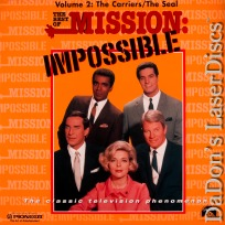 Best of Mission Impossible V2 Carriers / Seal Rare Spy LaserDisc TV Show