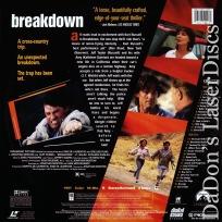 Breakdown AC-3 WS Rare LaserDisc Russell Walsh Thriller