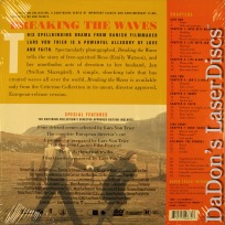 Breaking the Waves Widescreen Rare Criterion #343 LaserDisc Drama