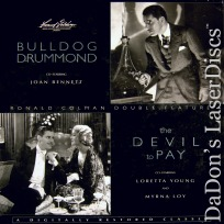 Bulldog Drummond / The Devil to Pay Rare Double LaserDisc Drama