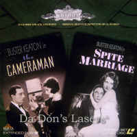 The Cameraman / Spite Marriage Silent LaserDisc Buster Comedy