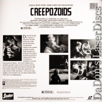 Creepozoids Rare LaserDisc Shadow LD Cult Movie Nuclear War Monster Horror