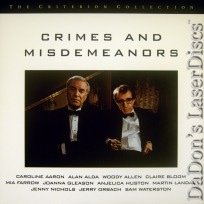 Crimes and Misdemeanors WS Criterion #323 LaserDisc Allen Comedy