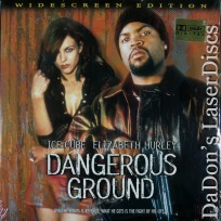Dangerous Ground AC-3 WS Rare LaserDisc Hurley Ice Cube Thriller