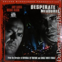 Desperate Measures AC-3 WS Rare LaserDisc Keaton Garcia Chase Movie Thriller
