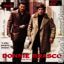 Donnie Brasco DSS WS Rare LaserDisc LD Pacino Depp Crime Drama