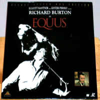 Equus Rare WS LaserDisc Richard Burton Peter Firth Drama