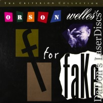 F for Fake Criterion WS #260 LaserDisc Welles Cotten Documentary