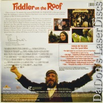Fiddler on the Roof AC-3 UNCUT WS NEW LaserDisc Box-set Topol Musical