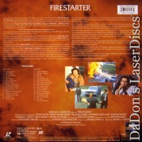 Firestarter WS Rare LaserDisc LD Barrymore Keith Steven King Novel Sci-Fi