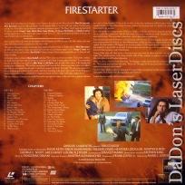 Firestarter WS Rare LaserDisc LD Barrymore Keith Steven King Novel Sci-Fi