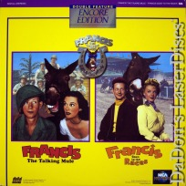 Francis the Talking Mule Double Encore Rare LaserDisc Wills O\'Connor Comedy
