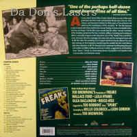 Freaks Remastered Rare LaserDisc Ford Baclanova Horror