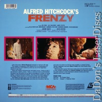 Frenzy Rare LaserDisc Hitchcock Leigh-Hunt Thriller