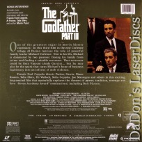 The Godfather Part III AC-3 RM THX WS Uncut LaserDisc Pacino Crime Drama *CLEARANCE*