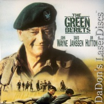 The Green Berets WS LaserDisc John Wayne Janssen War Action