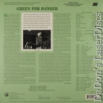 Green for Danger Criterion #170 LaserDisc Gray Howard Mystery