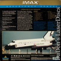 Hail Columbia! IMAX Dolby Surround CAV Rare LaserDisc Space Documentary