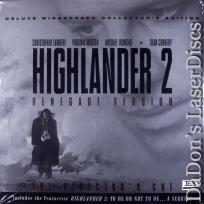 Highlander 2 Renegade Version UNCUT AC-3 THX WS Rare LaserDisc Sci-Fi *CLEARANCE*