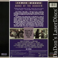 Badge of the Assassin Rare LaserDisc James Woods Alex Rocco Yaphet Kotto Drama