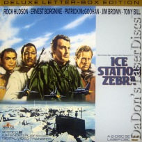 Ice Station Zebra WS LaserDisc Rock Hudson Borgnine Spy Action