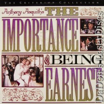 The Importance of Being Earnest Criterion #265 LaserDisc Comedy