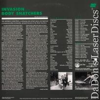 Invasion of The Body Snatchers Criterion LaserDisc #8A Sci-Fi