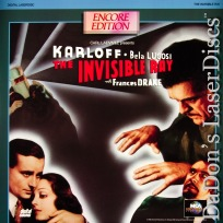 The Invisible Ray 1936 Encore NEW LaserDisc Lugosi Karloff *CLEARANCE*