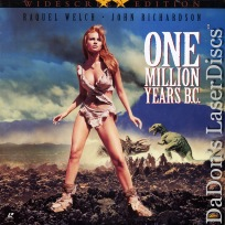 One Million Years B.C. UNCUT Widescreen Rare LaserDisc Welch Fantasy